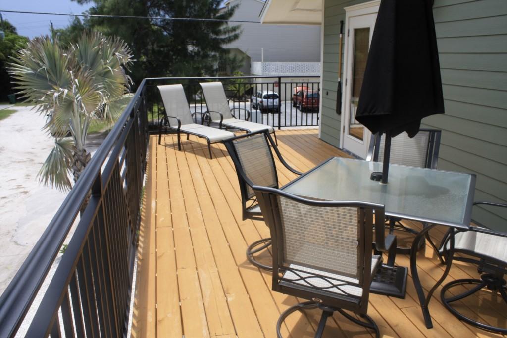 Fully furnished balcony