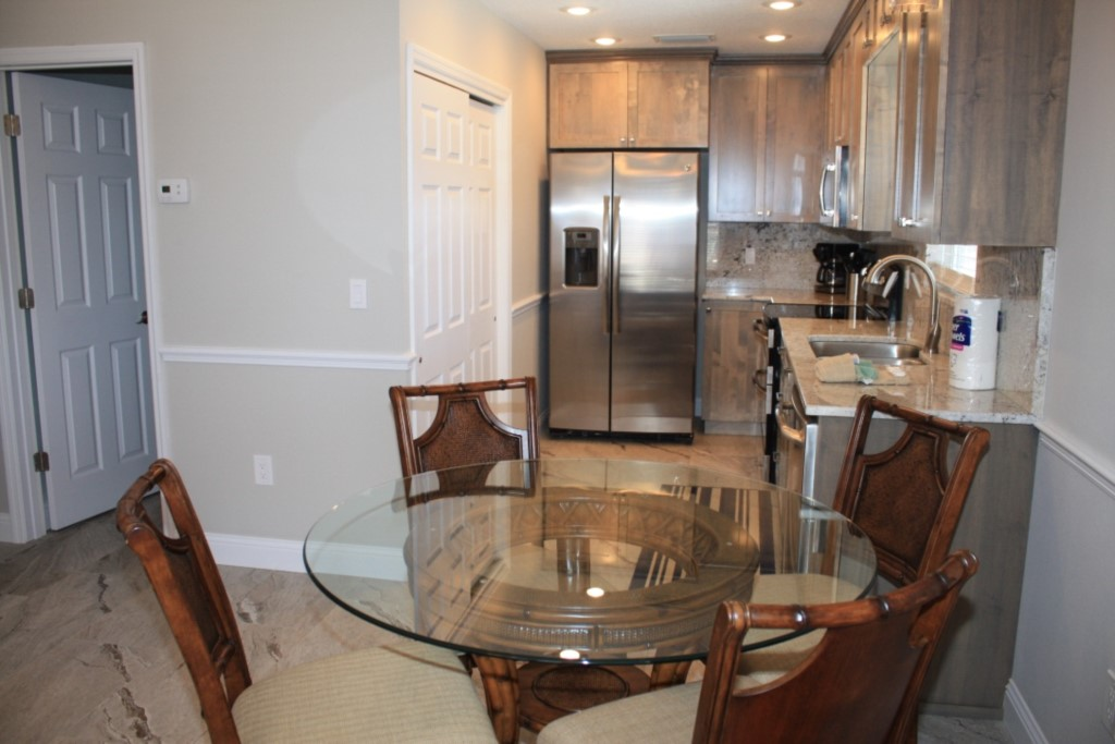 Dining area and new kitchen