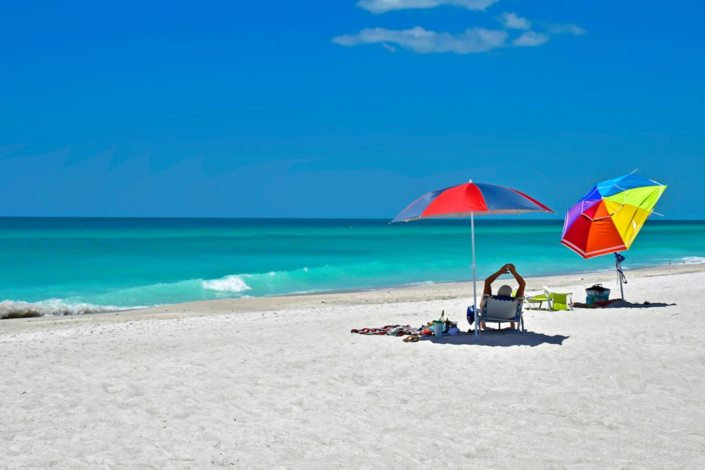 The Beach Directly In Front Of The Anna Maria Island Beach Sands
