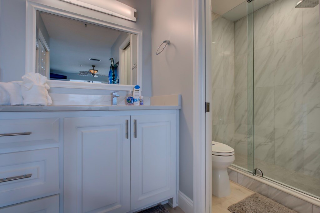 New En-Suite Washroom-Quartz Counter Tops-New Walk-In Shower