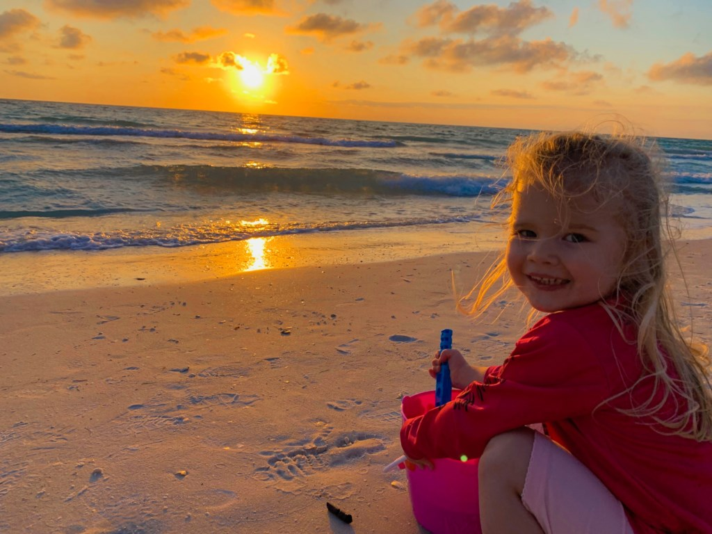 Granddaughter at the beach
