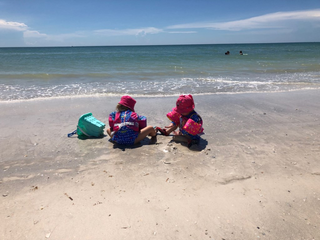 Granddaughter's at the beach
