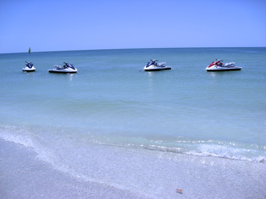 Rent jet skies just a few minutes walk from out condo