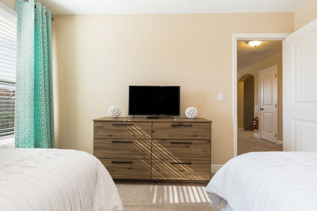 27 Twin Bedroom TV