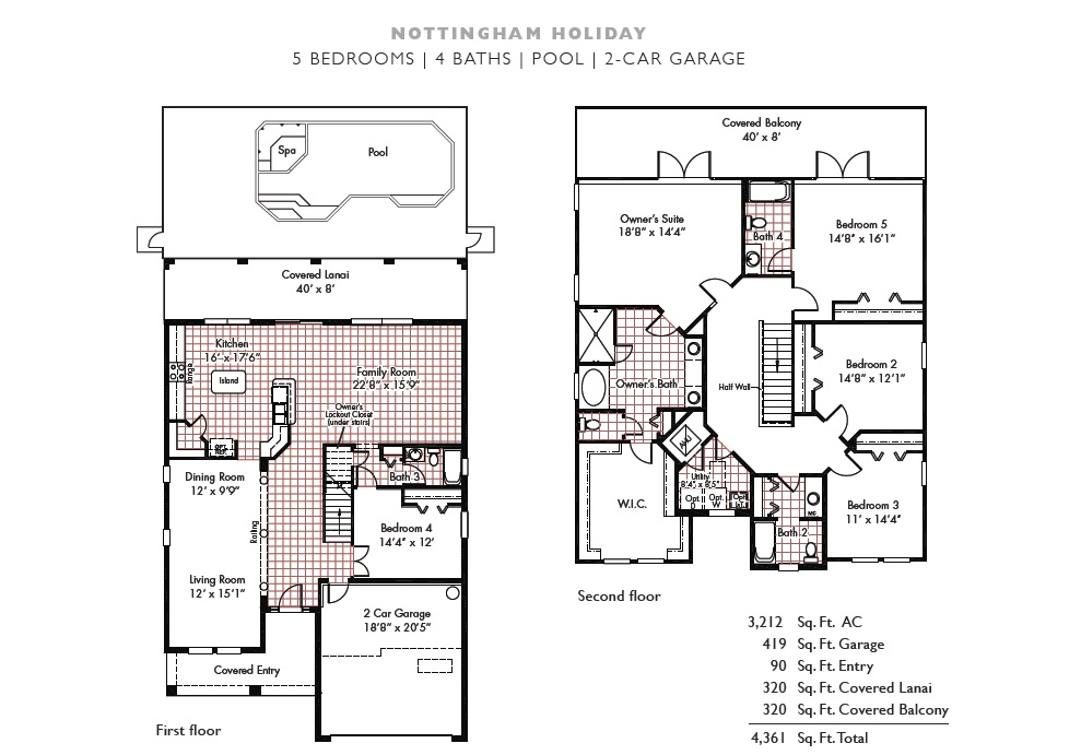 Walt's Magical West Haven Villa - Floorplan