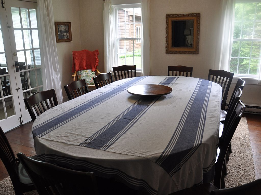 Huge dining room table!