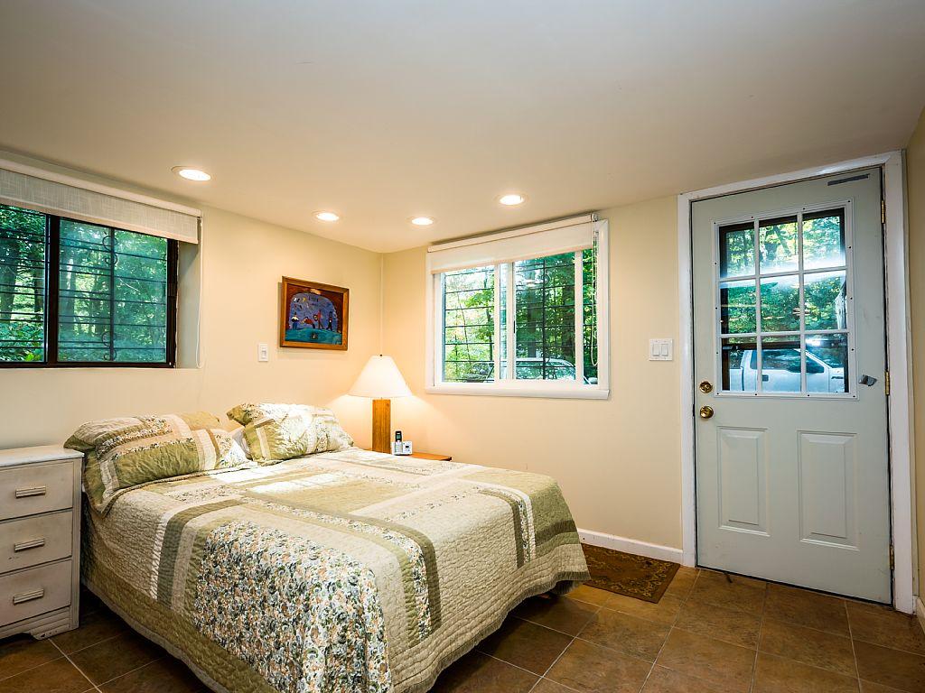 Bedroom #1 (Full bed) Walkout basement bedroom