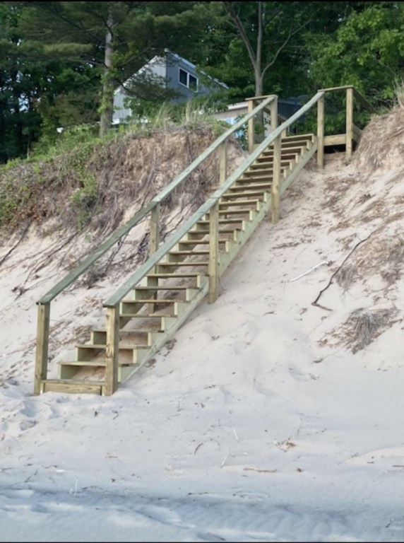Stairs To Private Beach!