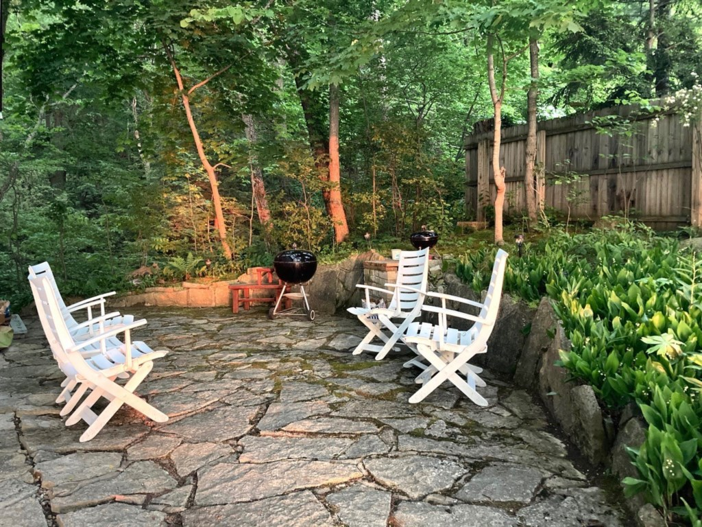 Charcoal Grill & Seating Area