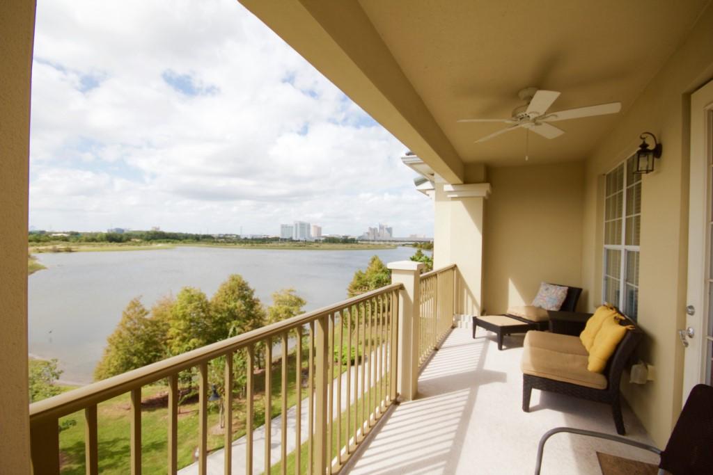Balcony overlooking Lake Cay