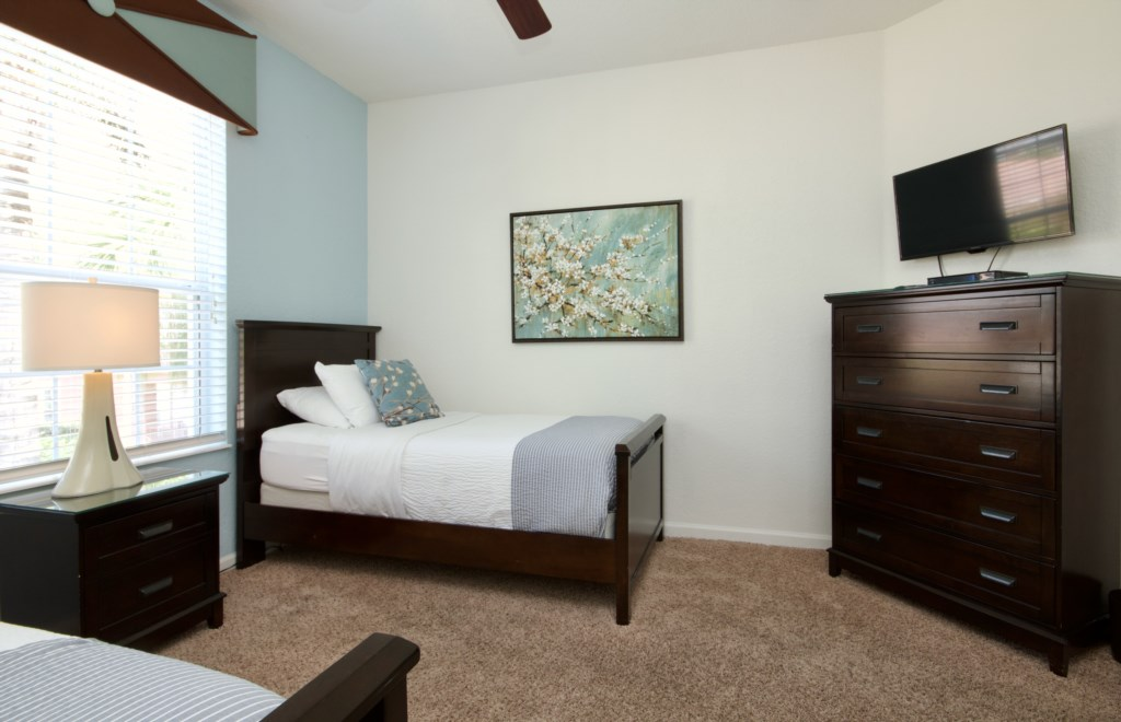 IMG_6133Twin bedroom with LED flat screen tv