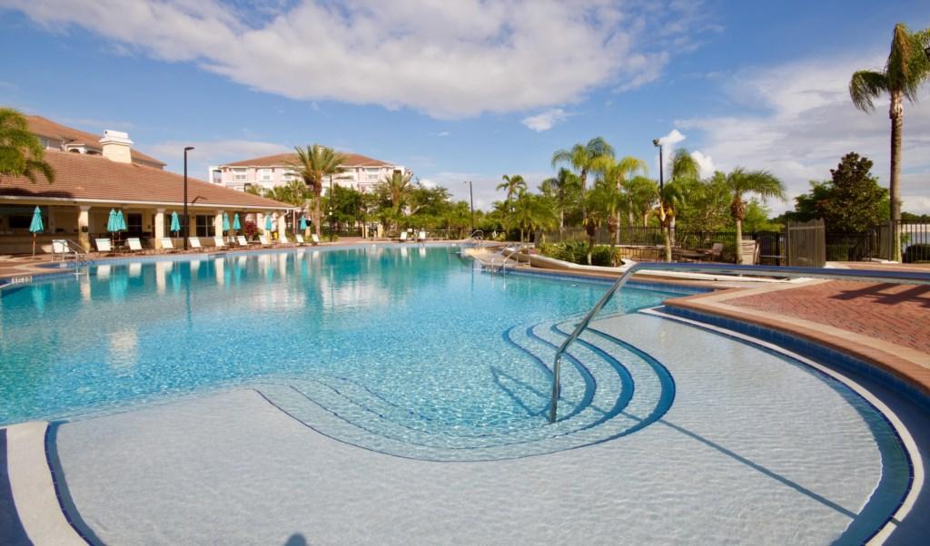 Heated resort pool