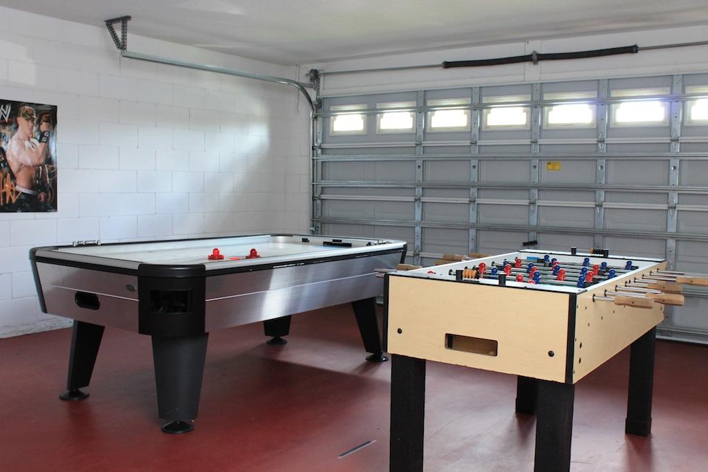 Game Room in Garage