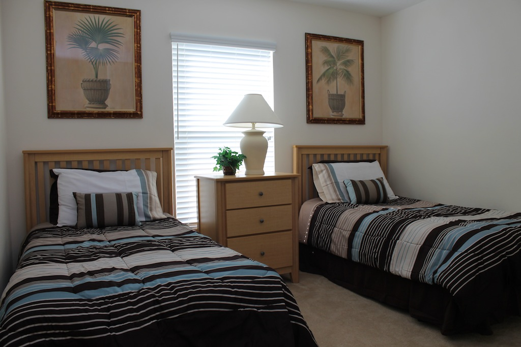 Bedroom Four with twin beds