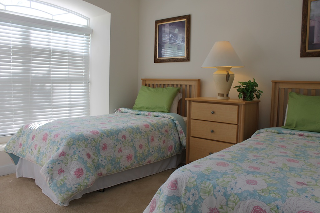 Bedroom Three with twin beds