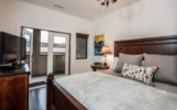 Alpenglow Penthouse - Master King Bedroom with French Doors to Large Balcony