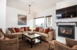 Alpenglow Penthouse - Lounge Area with Gas Fireplace