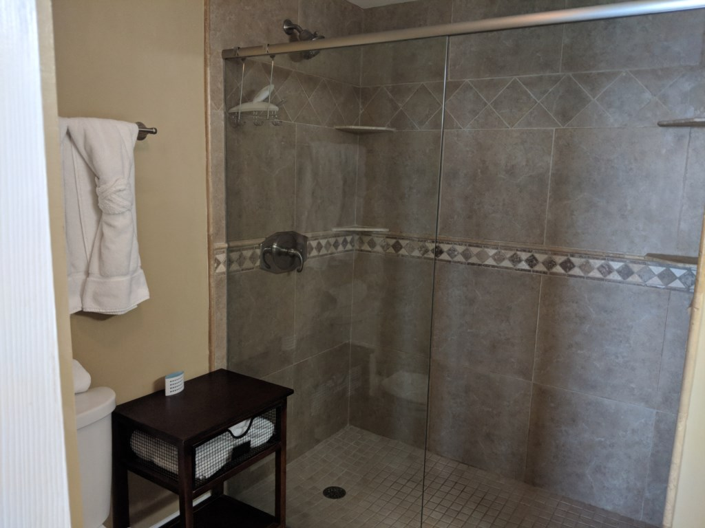 Nice large walk-in shower in the master bathroom
