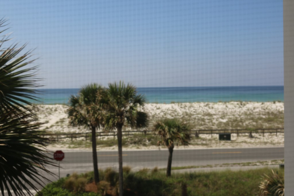 A view of the Gulf of Mexico from the Second Bedroom