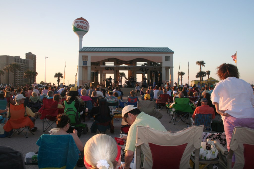 Bands ont the Beach Tuesday nights, Spring through Fall