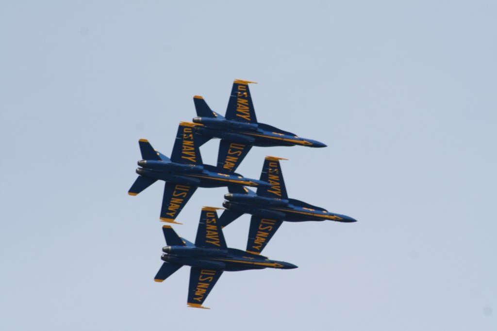 Enjoy the Blue Angels as they Practice weekly during the Season