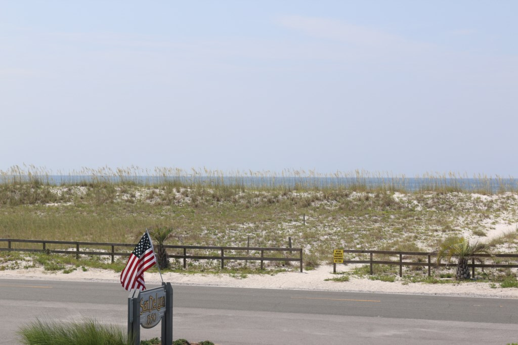 View of the beach access from the front deck entrance