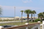 View of the Gulf from the front deck entrance