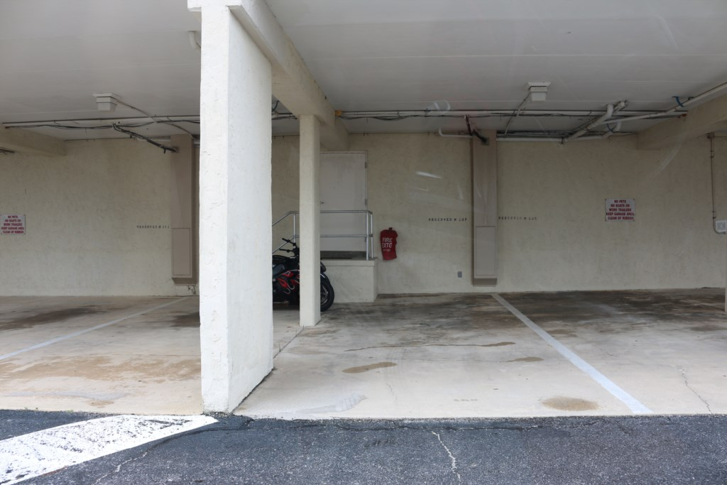 Covered parking for one...only 4 steps away from your entrance