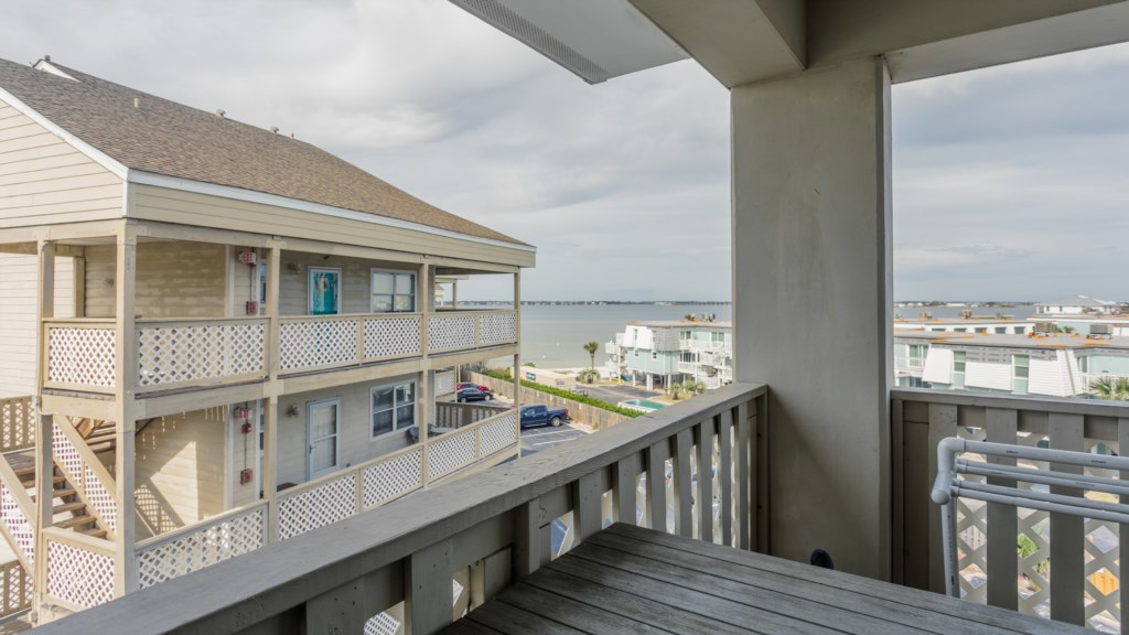 Access to balcony from living room and master bedroom
