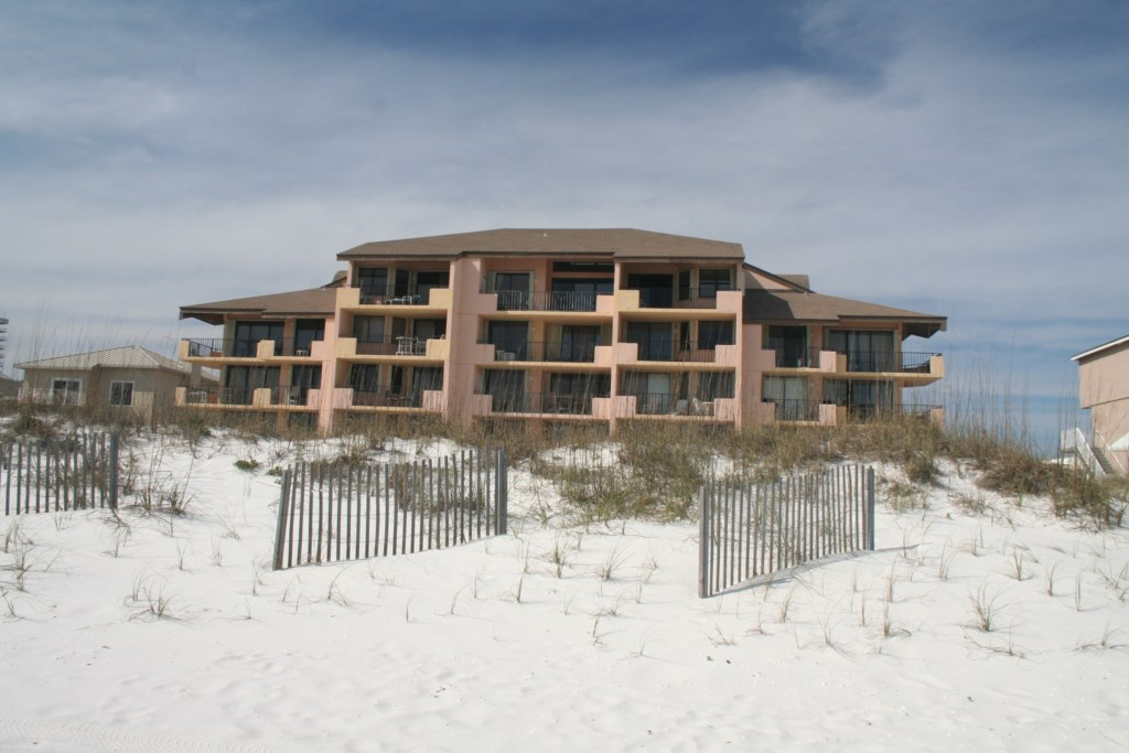Gulf Winds complex is located directly on the Gulf