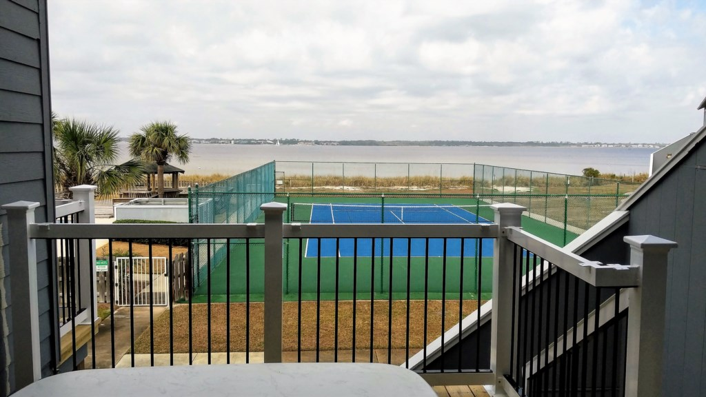 Enjoy the beautful view of the Pensacola Bay from the back deck