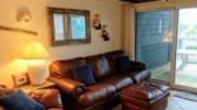New comfy leather sofa