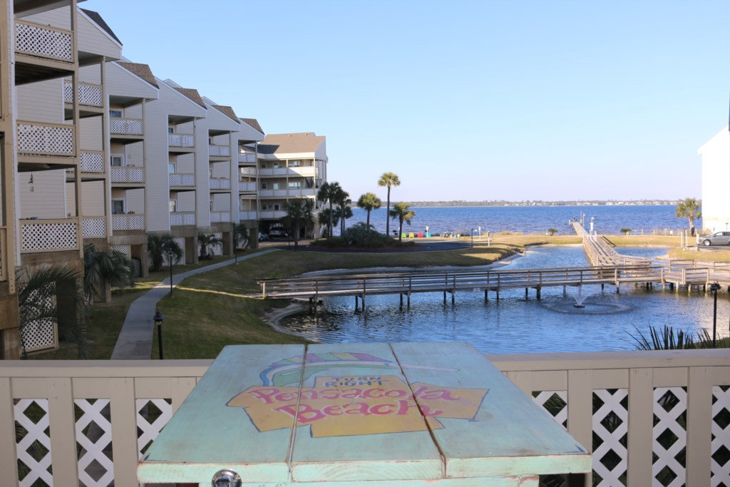 Views of the Pensacola Bay from your balcony