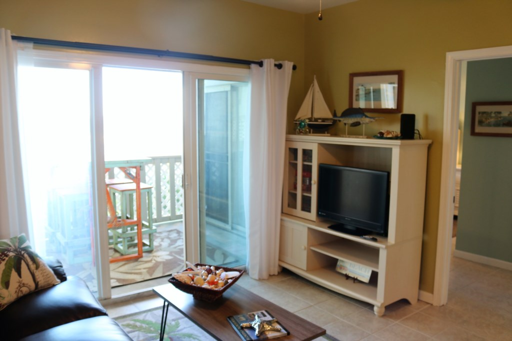 TV and access to your private balcony