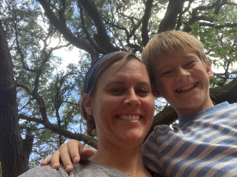 Selfie under the oaks.