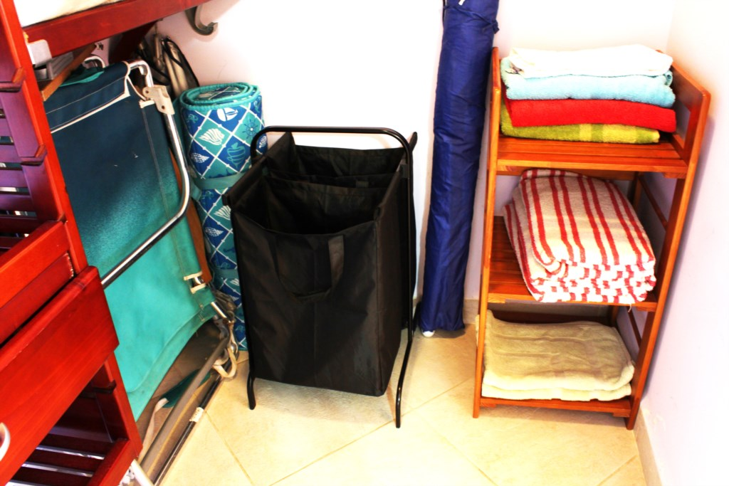 beach chairs, towels and laundry basket.JPG
