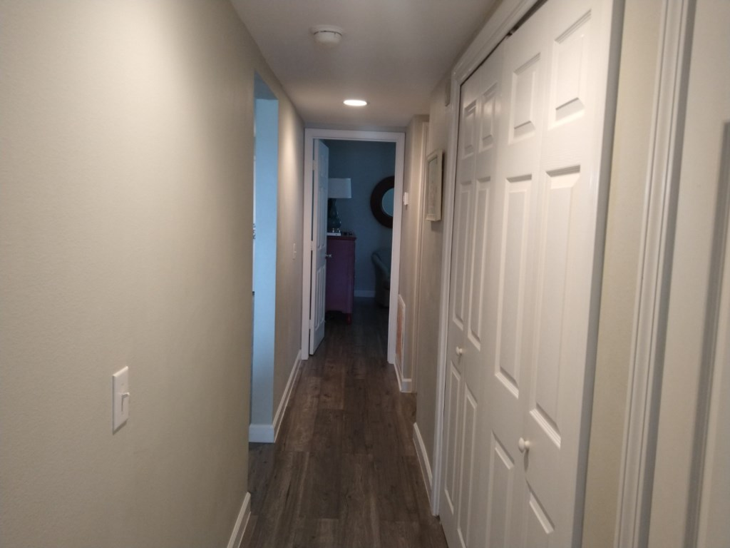 Hall to Laundry and Bedrooms