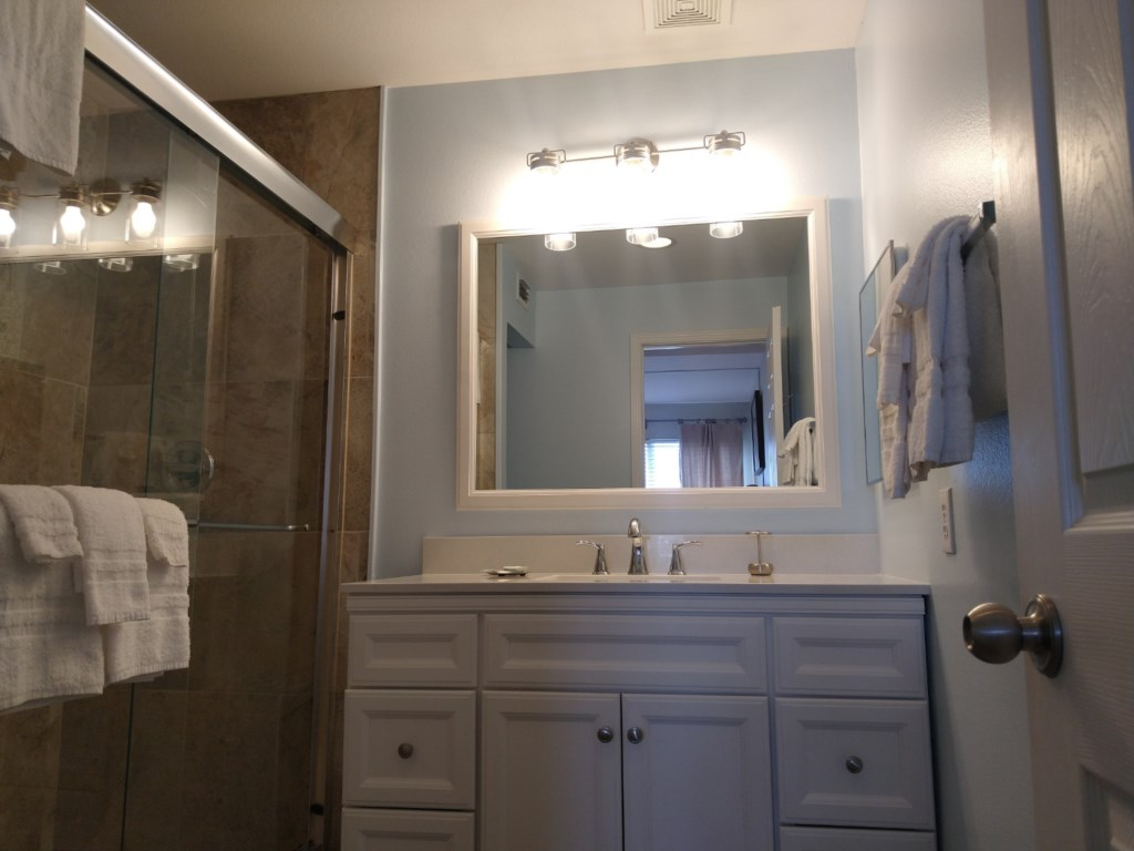 Master Bath with large vanity