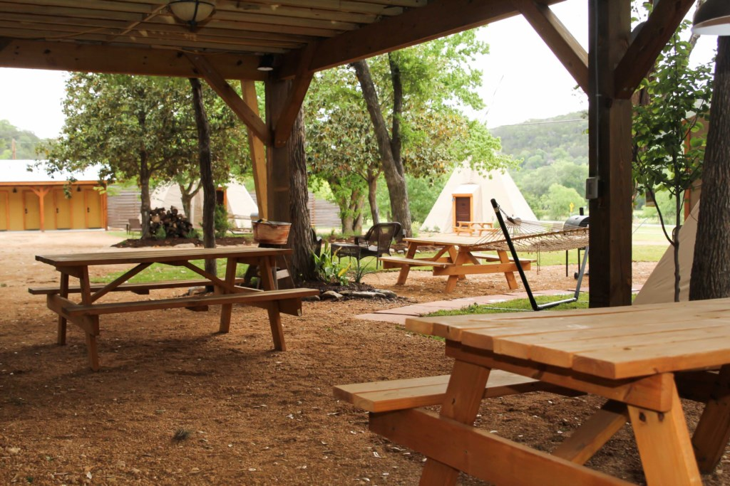 The Tipi grounds are kept clean and tidy.