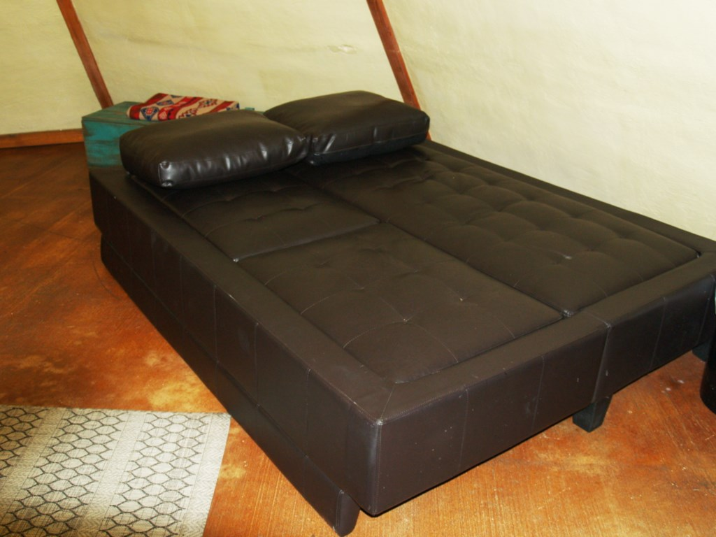Modern fold-out sofa bed.