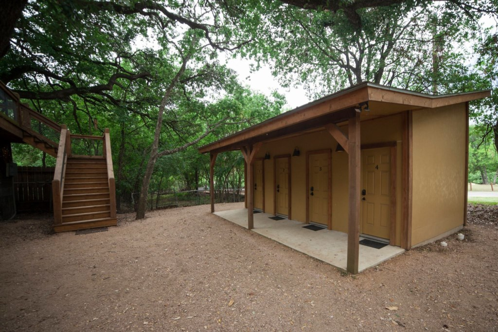 The Bath House is located near the Tipis.