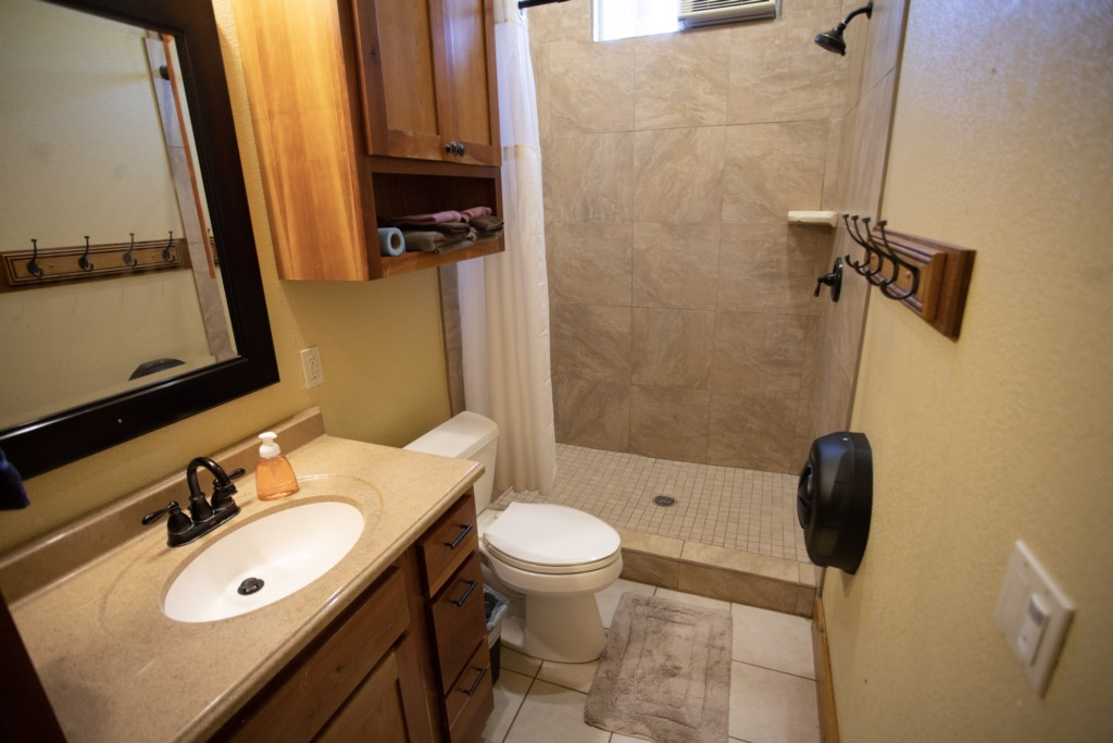 Clean & functional private Bathrooms.