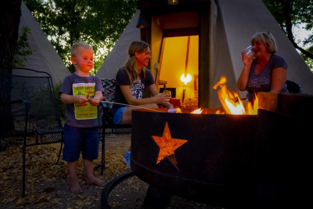 Experience Glamping and create new memories around your outdoor firepit