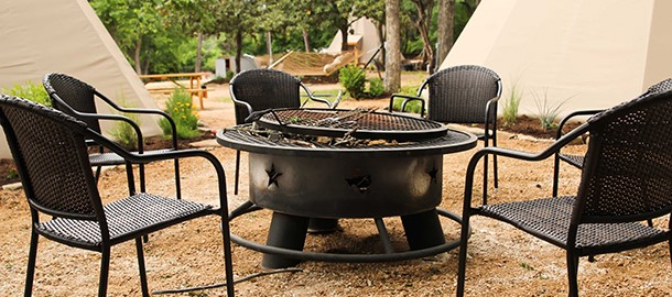 Relax around your private firepit and make lasting memories