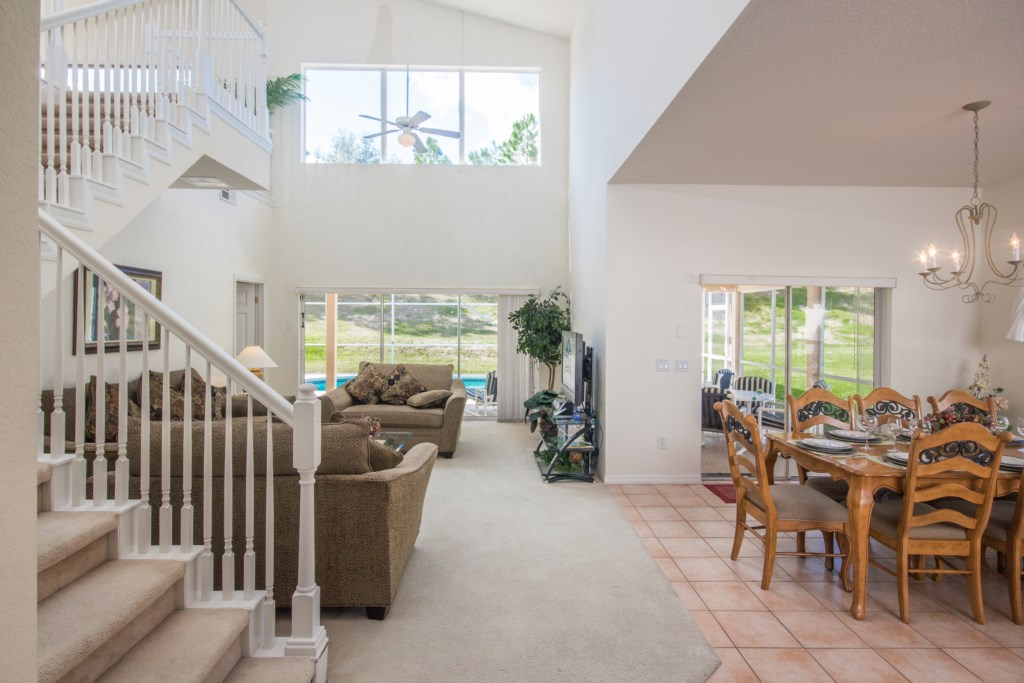 Light and Airly Great Room with Cathedral Ceilings