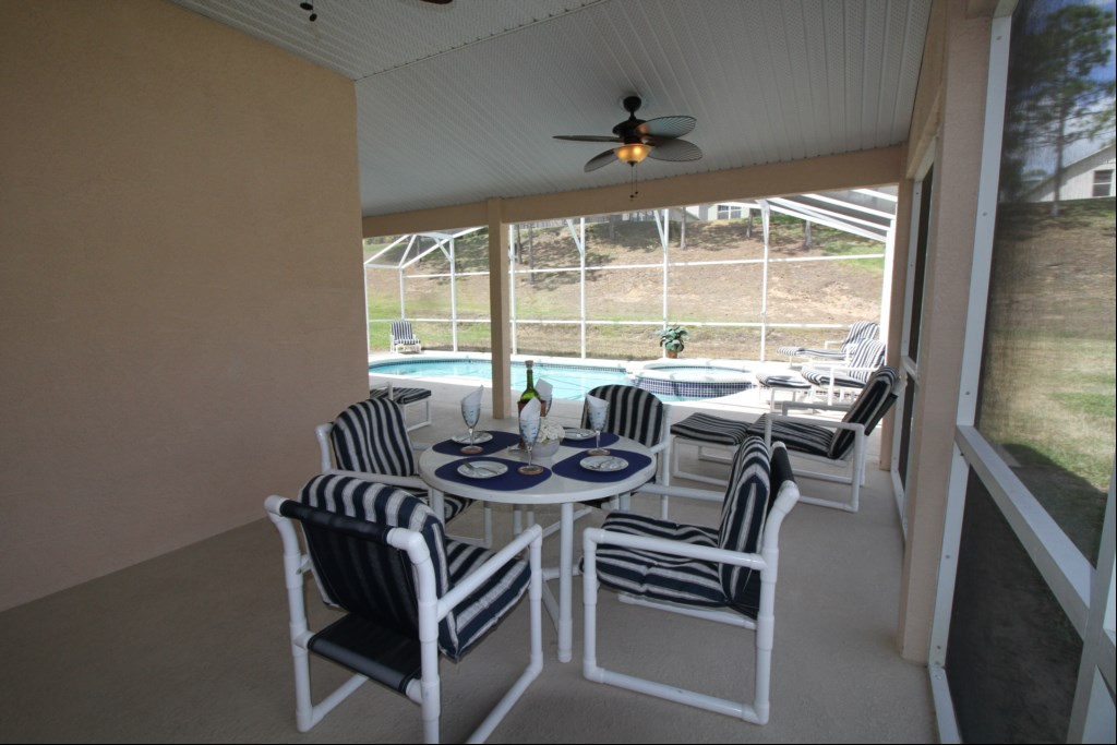 Oversized Covered Sitting Area with 3 Patio Fans