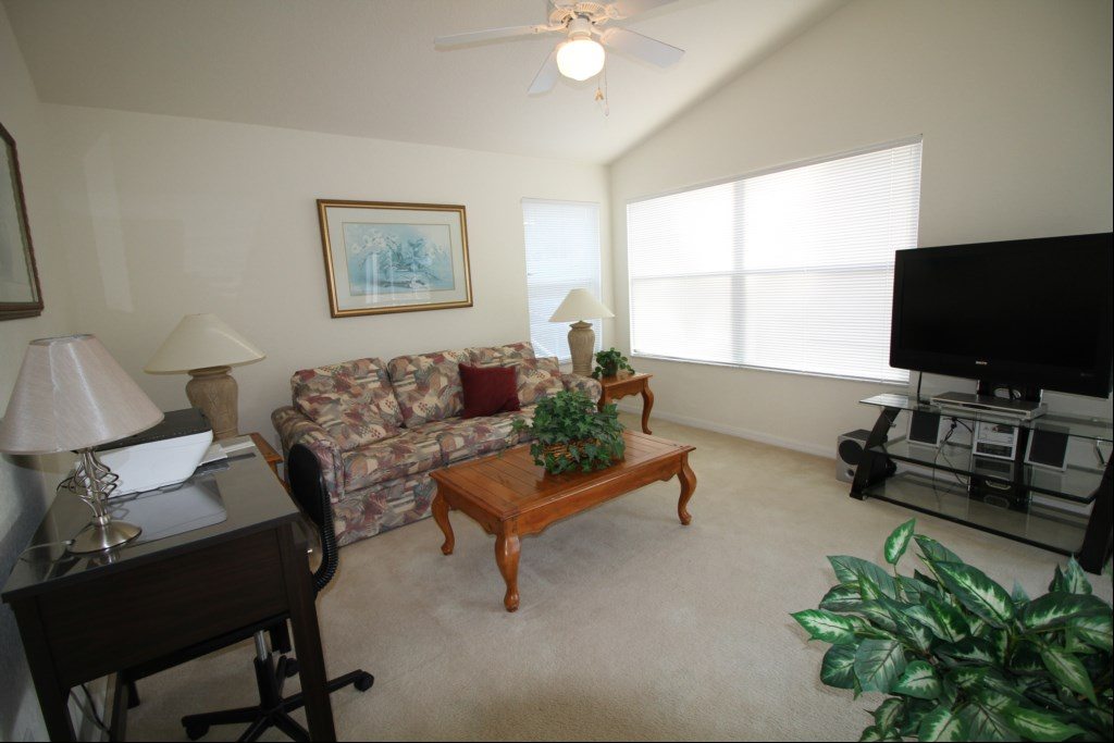 Upstairs Living Room with 50