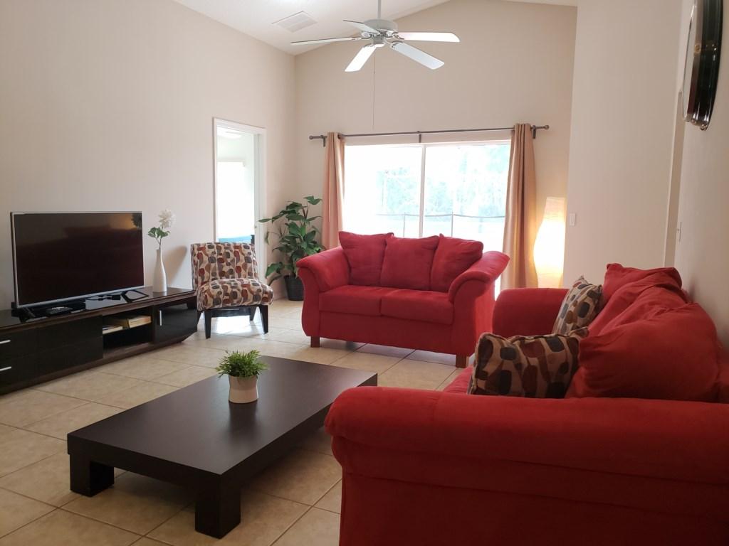 Living Room Area - Leads to Pool Area