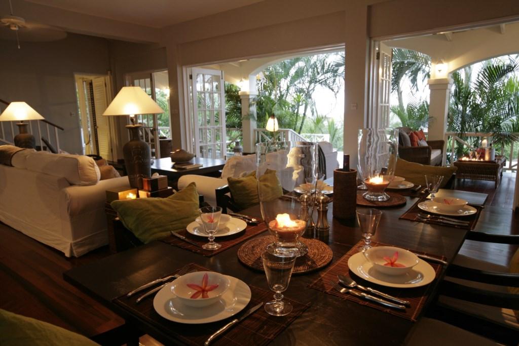 Enjoy dinners inside