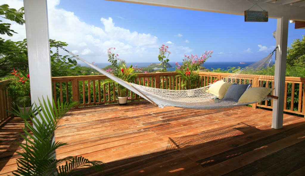 Enjoy Caribbean living on the balcony